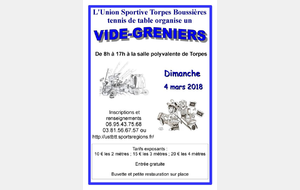 COMPLET : L'USTB organise son vide-greniers annuel